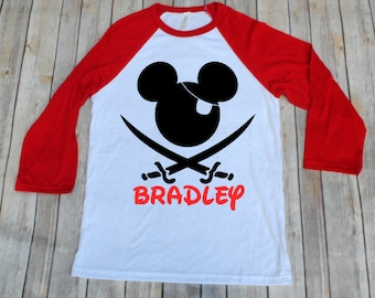 Disney Pirate Shirt, Mickey Pirate, Disney Pirate, Disney Cruise, Disney Inspired Adult Shirt, Disney Family Shirts, Mickey Pirate Shirt