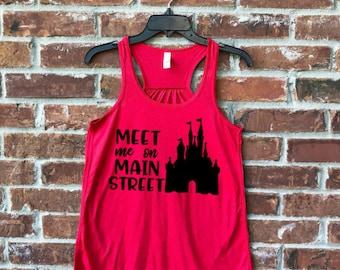 Meet me on Main Street, Favorite Place Disney, Disney Tank, Magic Kingdom Tank, Main Street Disney, Disney Womens Tank, Main Street USA