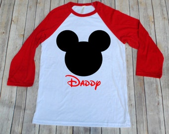 Mickey Disney Inspired Adult Shirt, Disney Family Shirts, Mickey Shirt, Raglans, Adult Disney Shirts, Mickey Shirts, Minnie Shirts