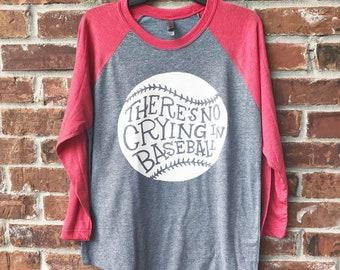 There's No Crying in Baseball, Baseball Mom Raglan, Team Mom Baseball, Baseball Mom, No Crying in Baseball, Baseball, Baseball Shirt,