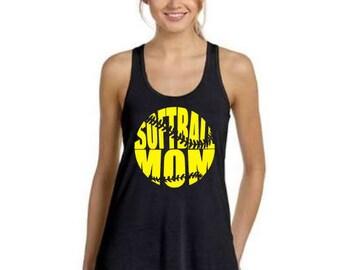 Softball Mom Tank, Team Mom Softball, Softball Mom, Baseball Shirt, Softball Tank, Funny Baseball, Tee Ball, Softball, Softball Tee