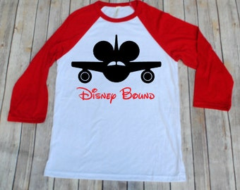Disney Bound, Disney Inspired Adult Shirt, Disney Family Shirts, Raglans, Adult Disney Shirts, Mickey Shirts, Minnie Shirts, Disney Plane