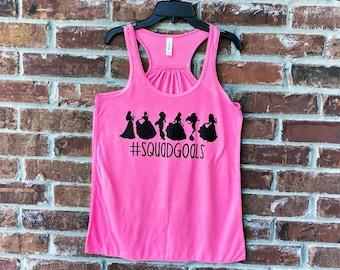 Squad Goals, Disney Tank, Disney Family Shirts, Run Disney, Disney Princesses, Disney Womens Tank Top, Disney Squad Goals