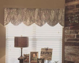 "Tin Ceiling tile Vintage Window cornice valance 50""-77"" >>LOCAL PICKUP ONLY<< customer must pick up from Celeveland, Tx"