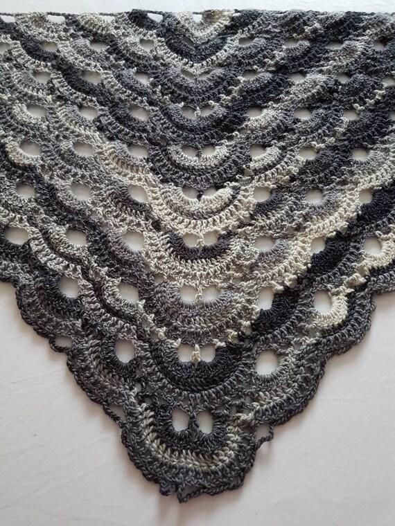 Lace-Schal Schal grauen Schal häkeln häkeln wickeln | Etsy