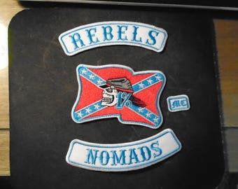 4 piece Rebel Nomads MC Patch