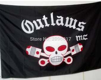 Outlaws MC Flag 3 by 5 and others