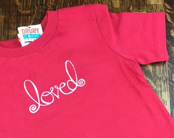 Valentines Tee Shirt, Toddle Valentine Outfits, Organic Valentines, Toddler Valentines Day, Valentine Tee Shirts, Red Tees, Hand Lettered