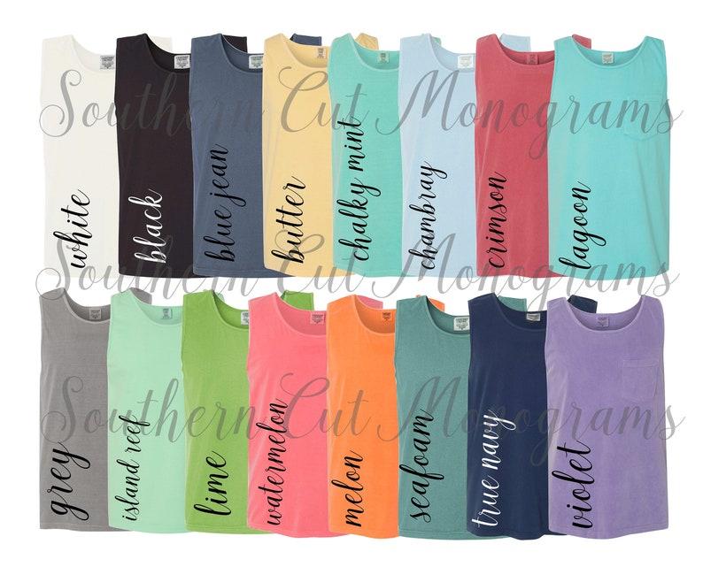 Comfort Colors Color Chart >> Digital File Shirt Color Chart Comfort Colors 9330 Pocket Tanks Color Chart Etsy Color Chart Tshirt Color Chart Bella Canva