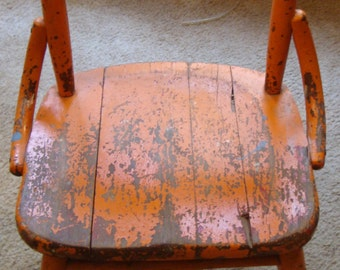 Vintage Child's Wood Chair