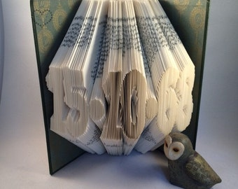 Folded Book Art-Any Date-Paper-Anniversary-Wedding-Birthday-Gift-Individually Crafted