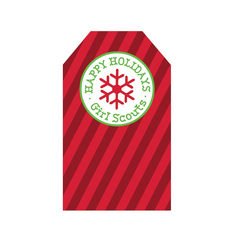 Holiday Tags Traditional Colors Girl Scouts Inspired image 0
