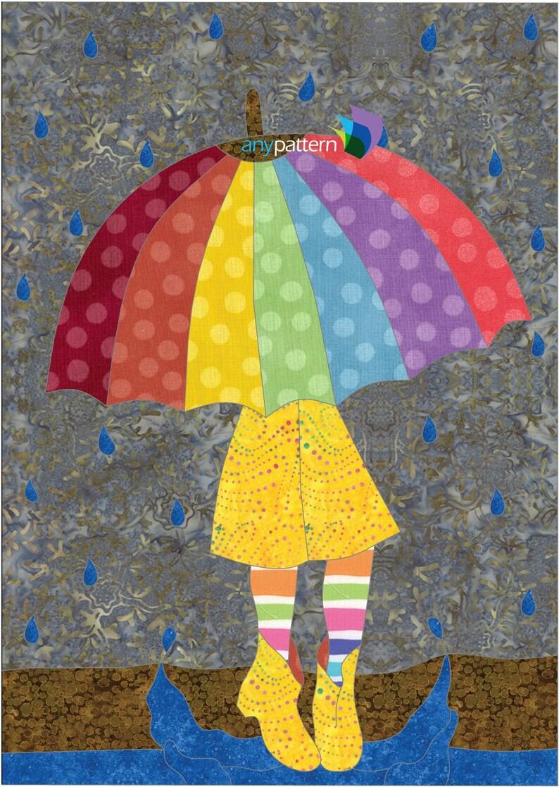 Rainy Days Applique Quilt Pattern