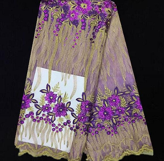Q (5yards/lot) JXP10! Merveilleux Merveilleux JXP10! Français dentelle tissu pour robe de soirée, brodé de dentelle filet africain avec des paillettes bdb2f4