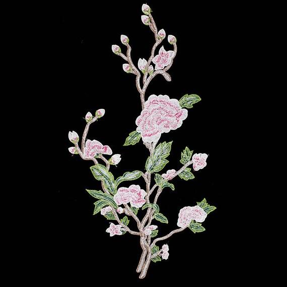 1piece dentelle vert rose brodé Patches tissu fleur dentelle tissu Patches Applique Motif Scrapbooking apliquer pour projets de bricolage T1843 278740