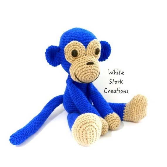 Affe Bereit Zu Posten Häkeln Affe Häkeln Tier Häkeln Etsy