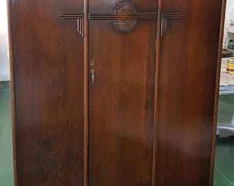 Vintage Great Britain Armoire/Wardrobe 1950's Original
