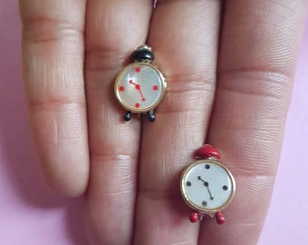 Vintage mini clock brooch - More colours