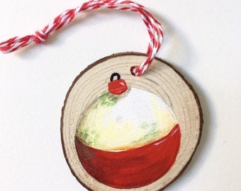 Fishing Ornament, Father's Day Gift, Gift for Dad, Dad Gift, Bobber Ornament, Fishing Christmas Ornament, Fishing Gift, Bobber Decor