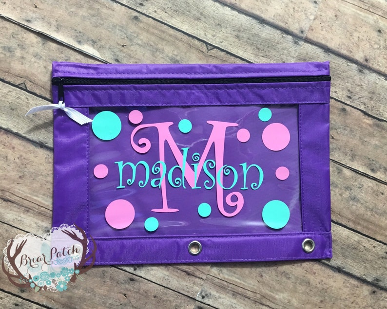 Personalized Monogrammed Pencil Pouch Pencil Case image 0