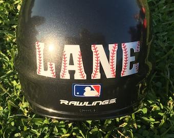 Baseball Helmet Decal, Personalized Baseball Helmet Decal, Helmet Decal, Baseball Sticker, Helmet Decal Name