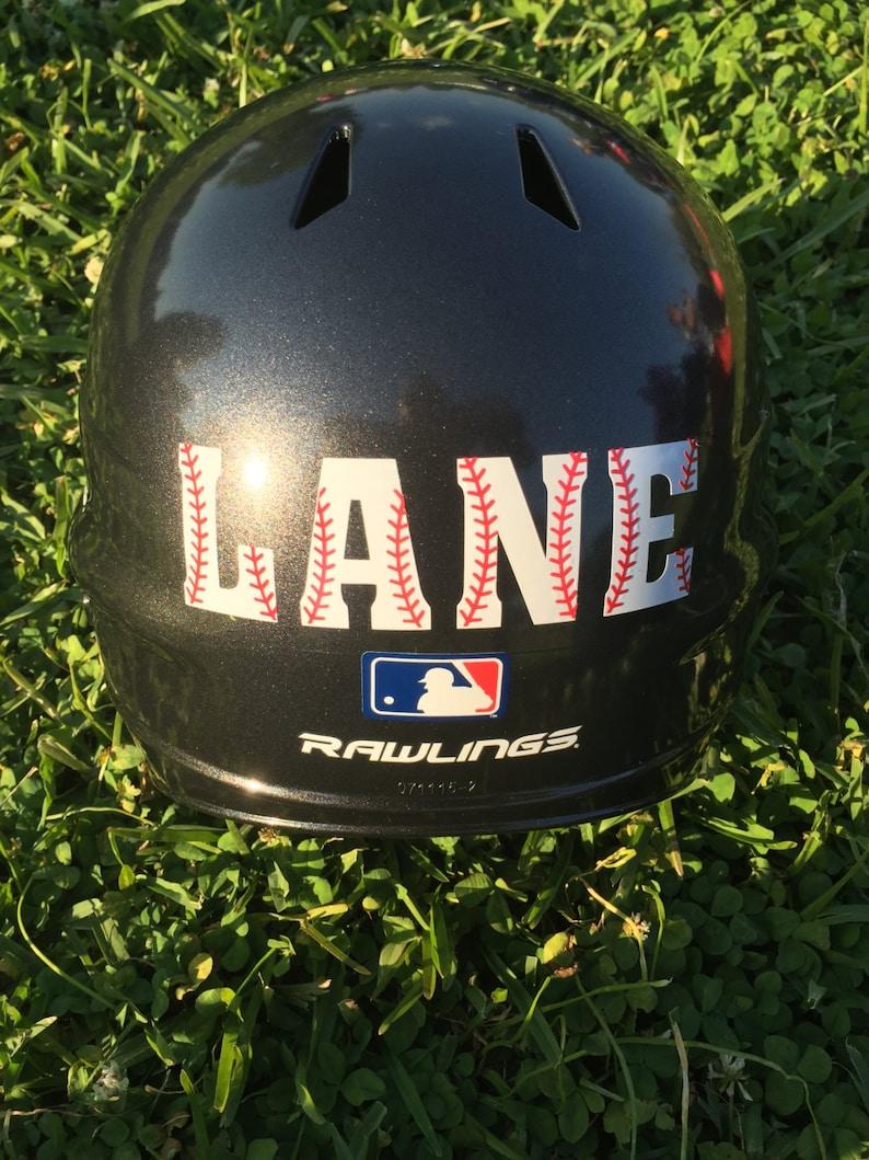Baseball helmet decal personalized baseball helmet decal etsy