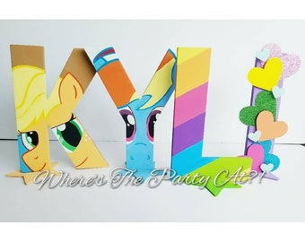 My Little Pony Inspired Name Letters Party Decorations