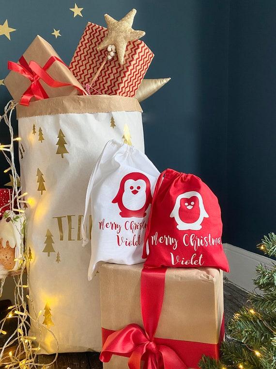 CHRISTMAS personalised teacher gift bag.
