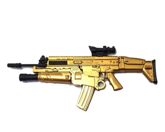 1 6 scale custom made gold fn scar assault rifle us army fn etsy