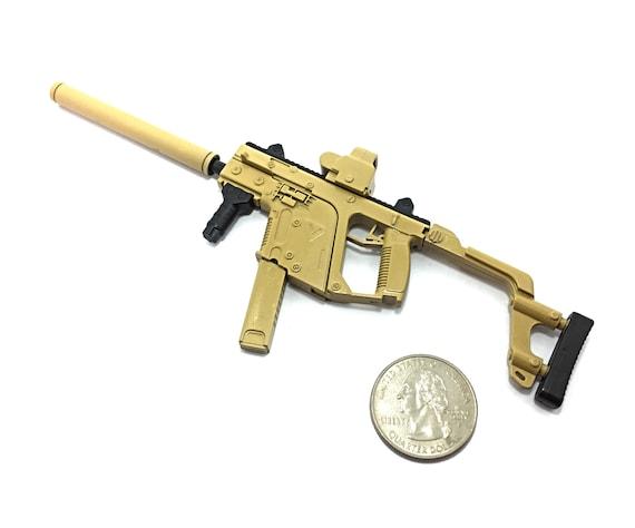 1//6 Scale Custom Green Army MSR Sniper Rifle Camo Remington Modular US Gun Model