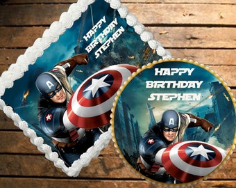 Instant Download Captain America Thank You Cards Etsy
