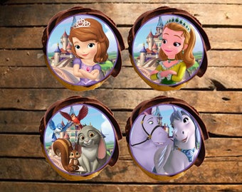 Sofia the First Edible Cupcake Toppers