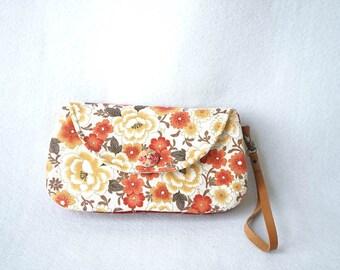 Floral Japanese Cotton Wristlet