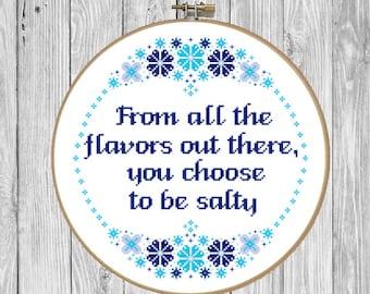 Cross Stitch Pattern Funny Overthink Cross Stitch Pattern | Etsy