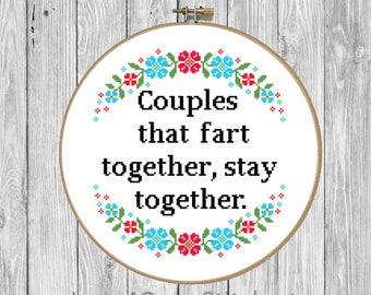 Anniversary Cross Stitch Pattern Funny, Subversive Cross Stitch Pattern Modern, Boyfriend Cross Stitch, Fart Cross Stitch Funny, Pattern PDF