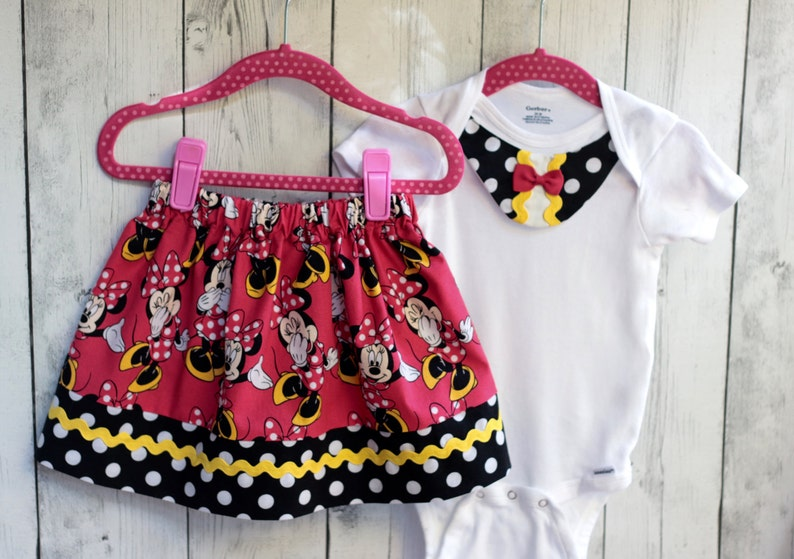 minnie mouse skirt girl minnie mouse girl disney outfit image 1