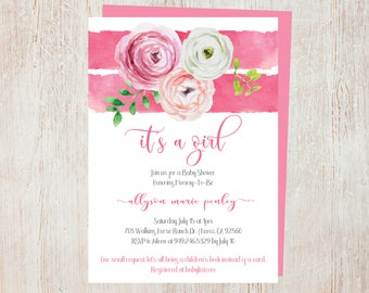 Baby Shower Invites - Baby Girl