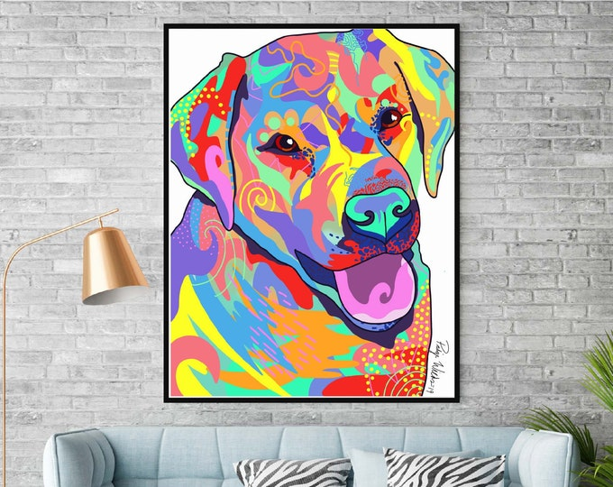Colorful Lab Portrait