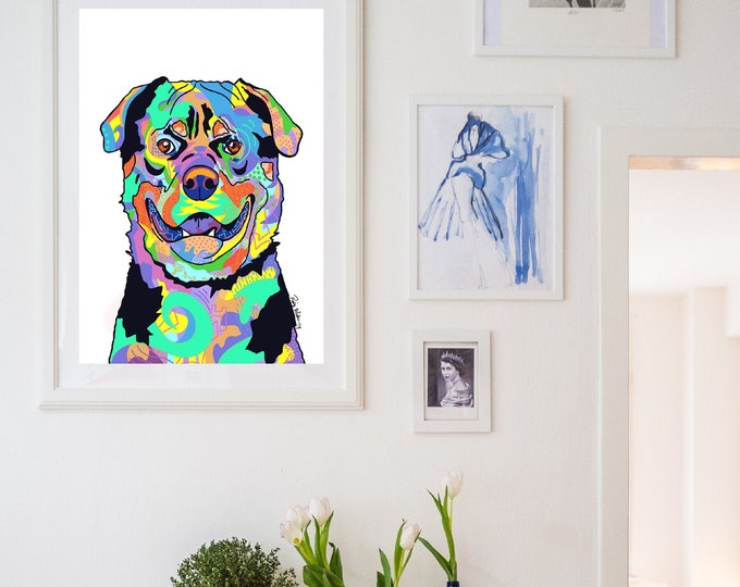 Colorful Rott Portrait