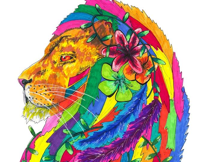 Lion Karma Print