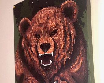 Forest Bear Canvas