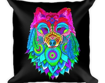 Call of the Wolf Square Pillow