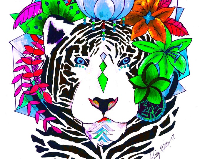 White Bengal Edit Print