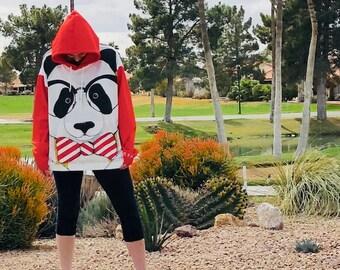 Hipster Panda Full Hoodie