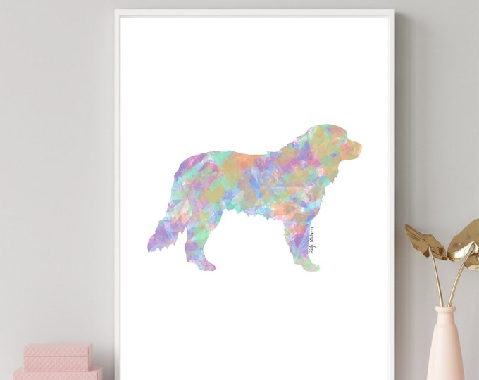 Golden Retriever Pixel Print