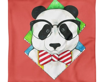 Hipster Panda Pillow Case