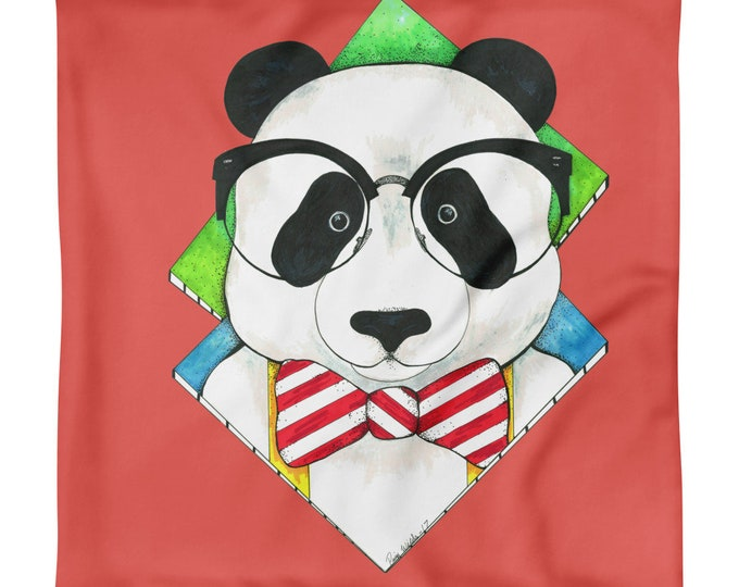 Hipster Panda Pillow Case