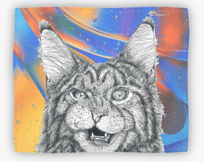 Colorful Meow Plush Fleece Blanket