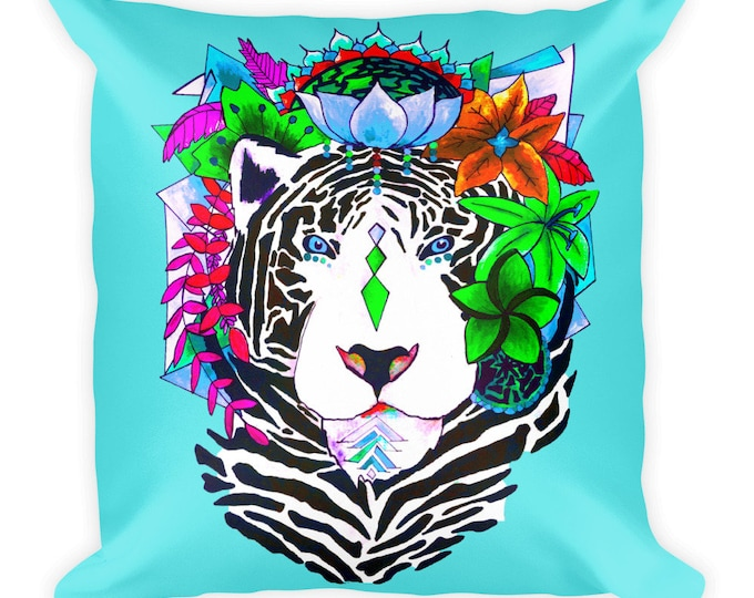 Bengal Paradise Square Pillow
