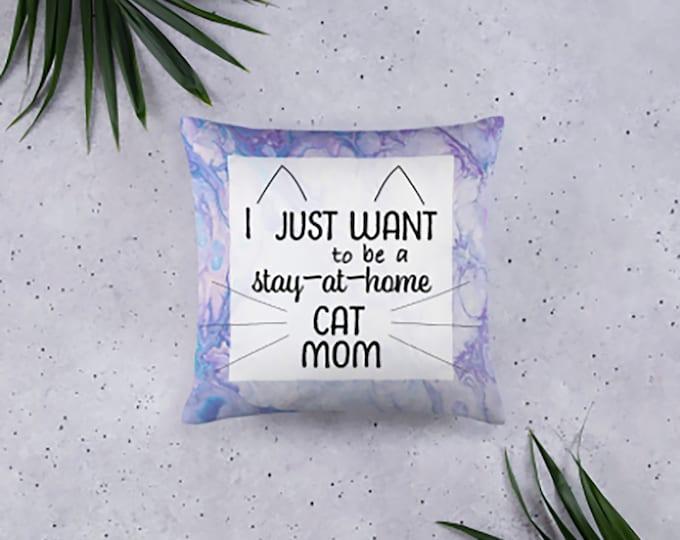 Cat Mom Pillow